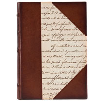 """Calligraphy"" Leather and Paper Journal"