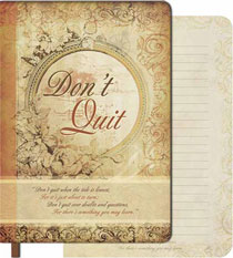"""Don't Quit"" Soft-Cover Journal"
