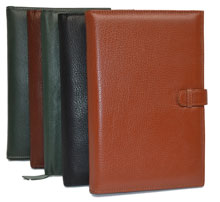 black, camel, green and British tan leather wholesale journals