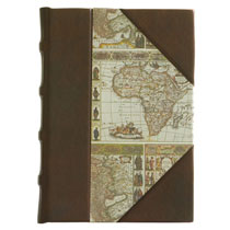 """Mappa Mundi"" Leather and Paper Journal"