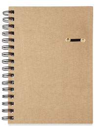 Custom Recycled Journal with Elastic Pen Loop