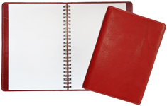 Red Leather Classic Ruled Journal
